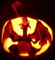 Charizard - Pumpkin of Fire by johwee