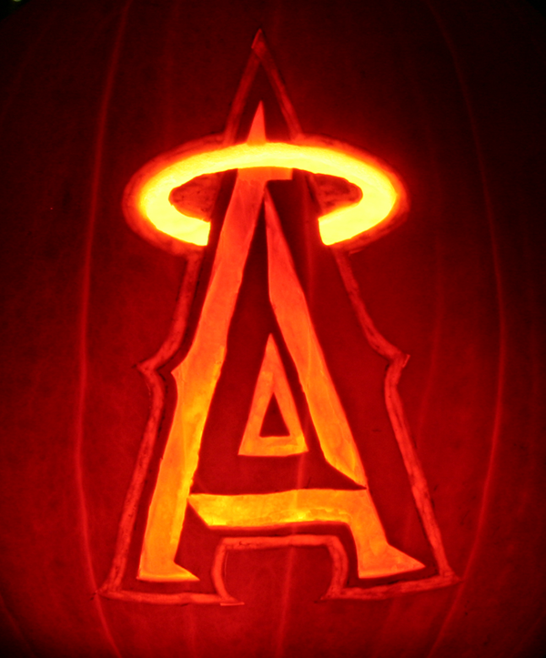 Angels baseball pumpkin by johwee on deviantart