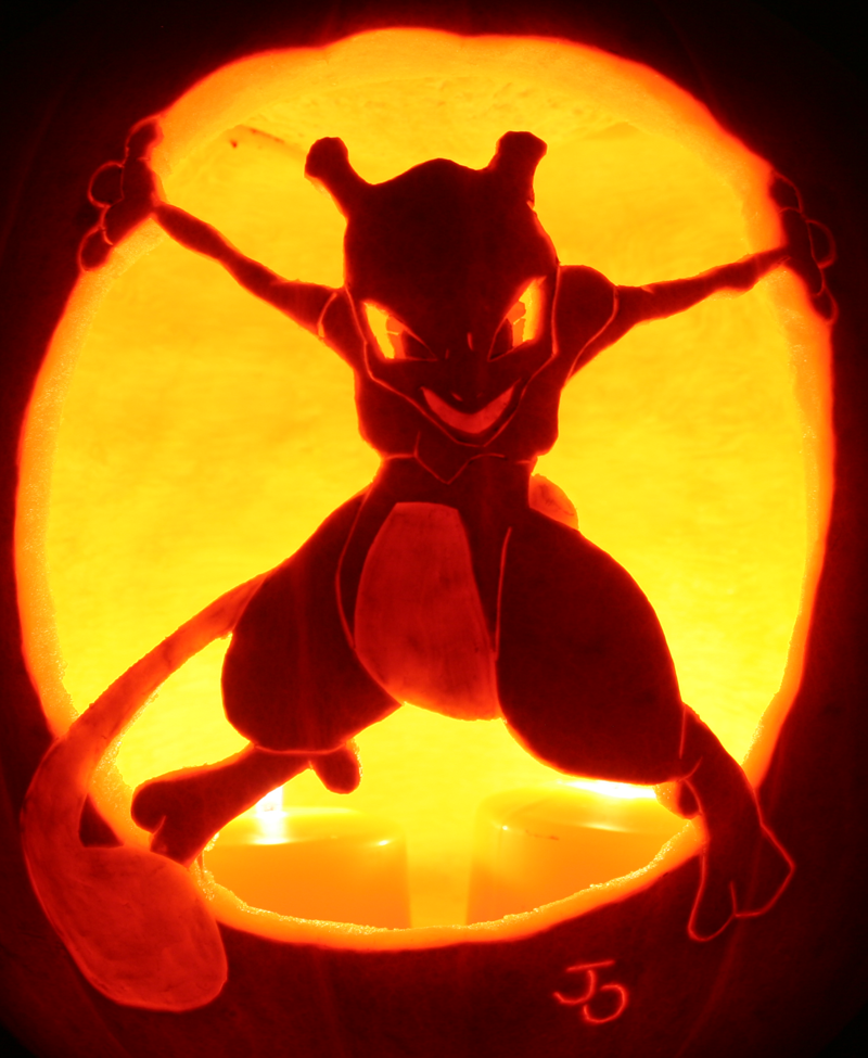 Pumpkin carvings updated by lablayers on deviantart for Pokemon jack o lantern template