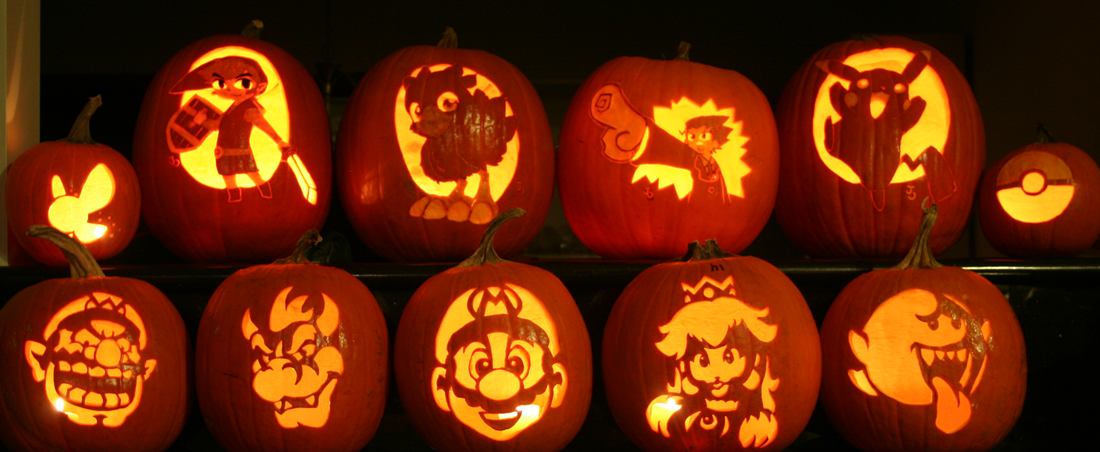 Awesome video game pumpkins youth are