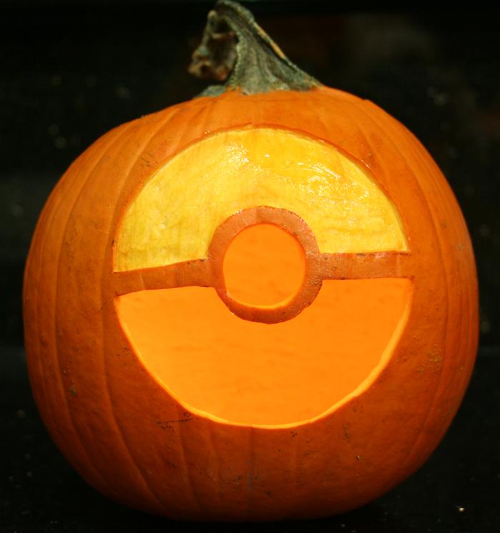 Pok mon pumpkins beano for Pokemon jack o lantern template