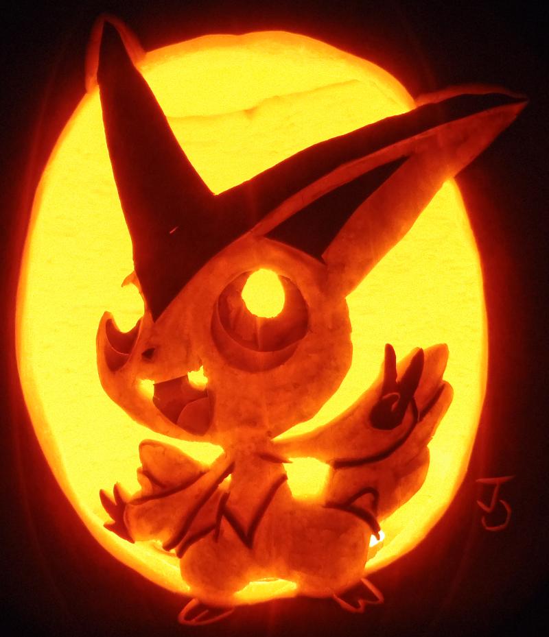 Victory Pumpkin - Victini by johwee
