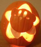 Kirby Star Pumpkin - Light