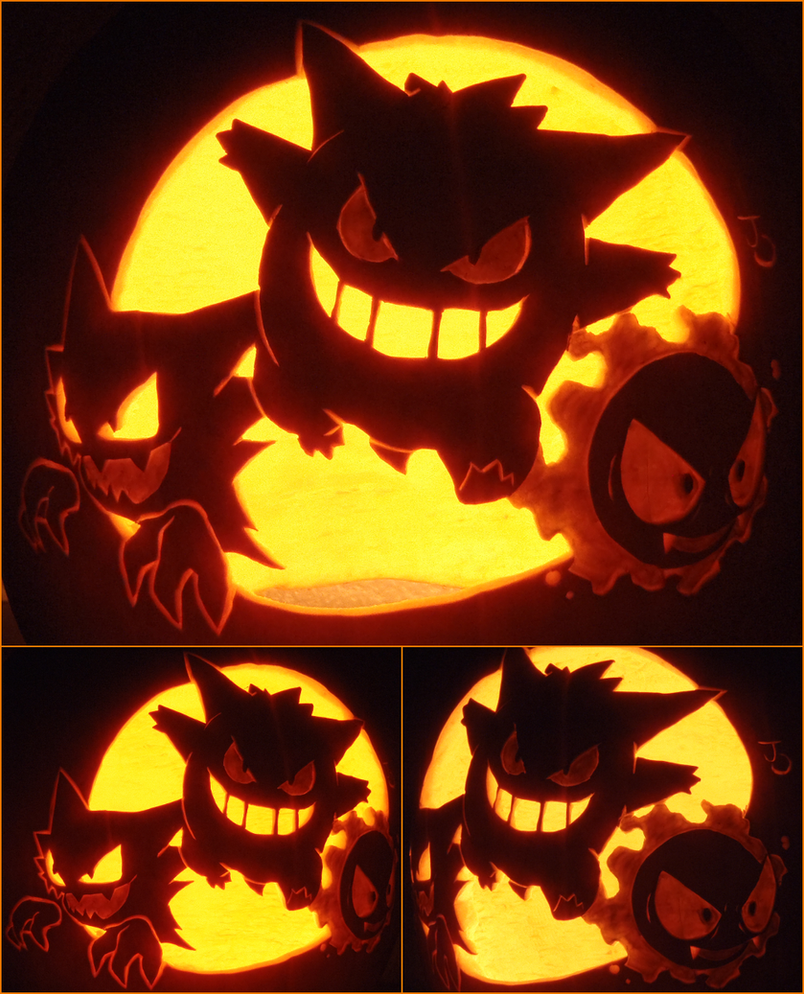 The ghostly trio by johwee on deviantart for Pokemon jack o lantern template