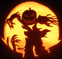 Spooky Windy Scarecrow
