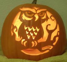 Spooky Owl Light by johwee