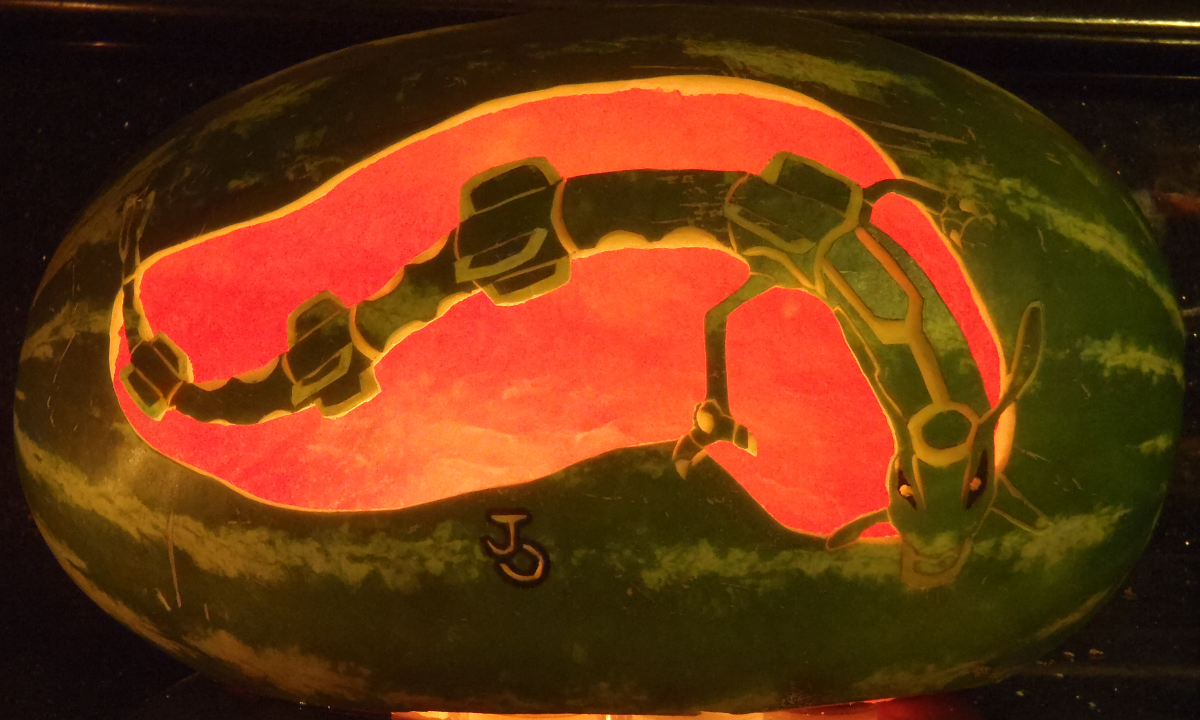 Rayquaza Watermelon Light by johwee