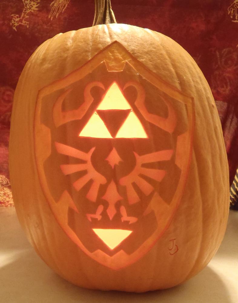 Hylian shield pumpkin light by johwee on deviantart
