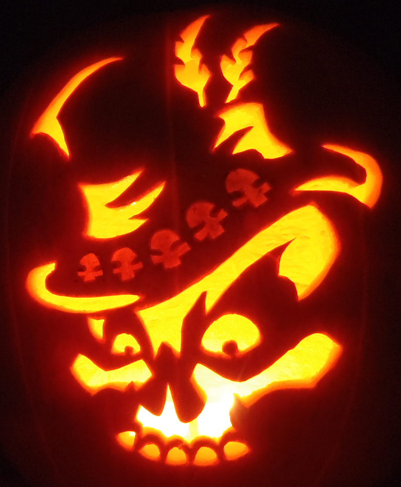 Mojo skull pumpkin by johwee on deviantart