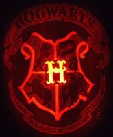Hogwarts Crest Pumpkin by johwee