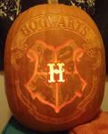Hogwarts Crest Pumpkin Light