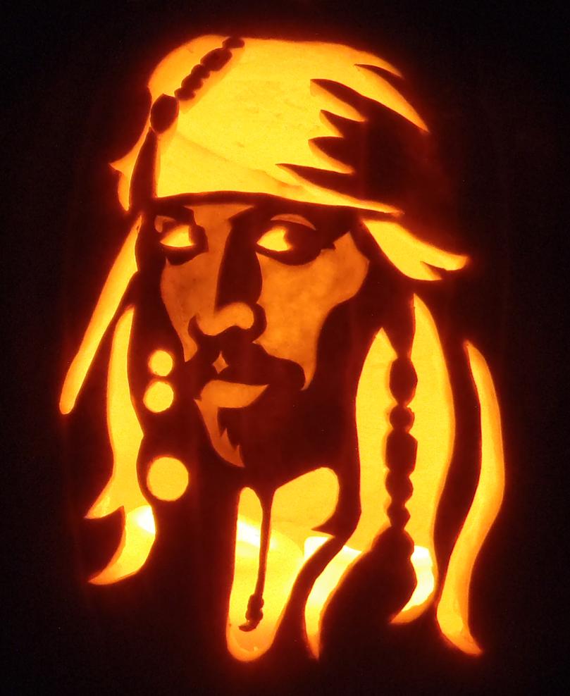 Captain Jack Sparrow Pumpkin by johwee