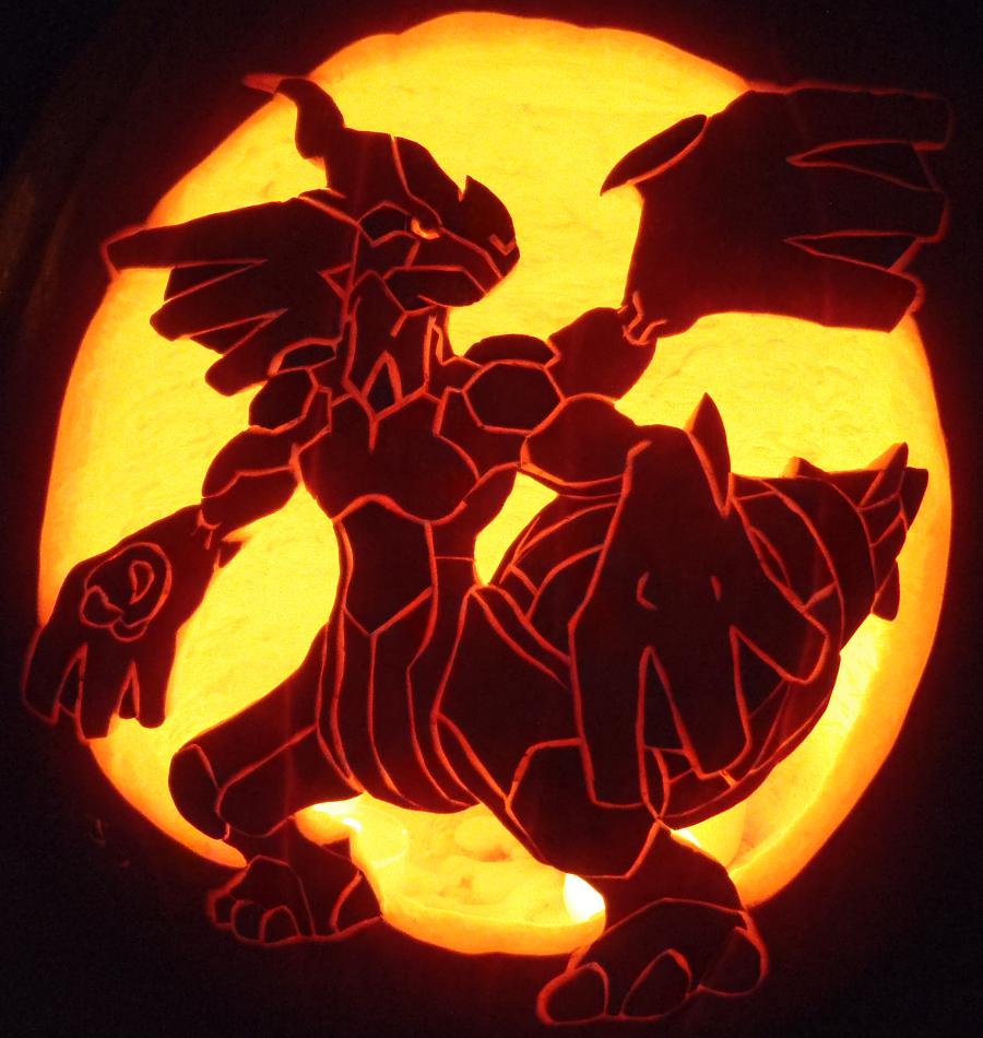 Zekrom Pokemon Pumpkin Carving Patterns Images   Pokemon Images