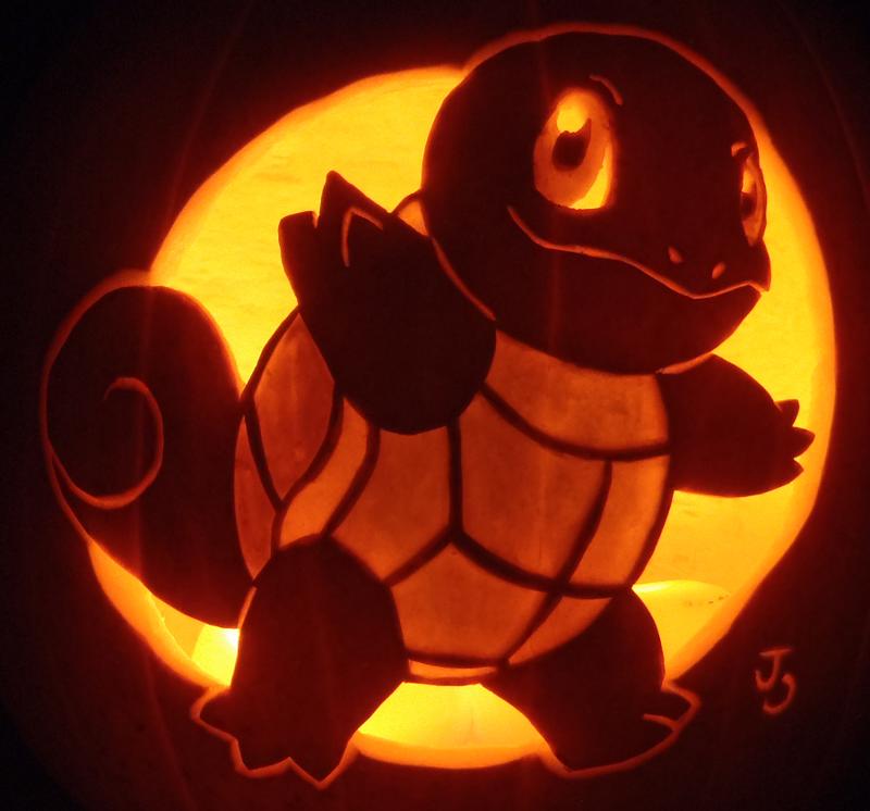 Squirtle Pumpkin by johwee