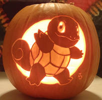 Squirtle Pumpkin Light by johwee
