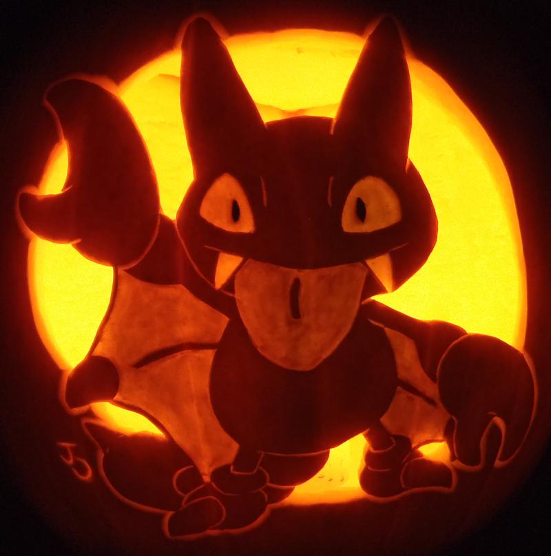 Gligar Pumpkin Redux by johwee