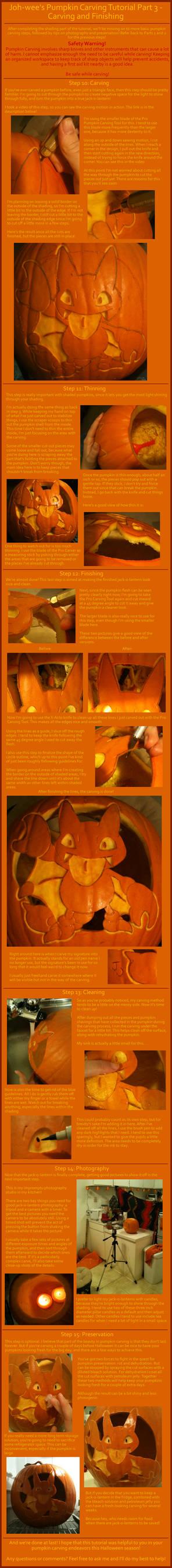 Pumpkin Carving Tutorial - Part 3