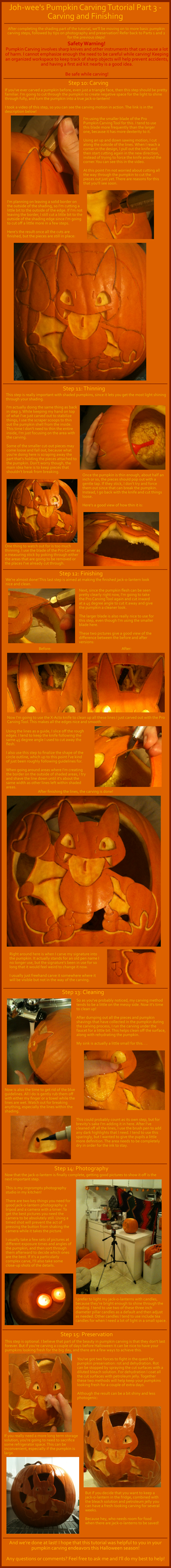 Pumpkin Carving Tutorial - Part 3 by johwee