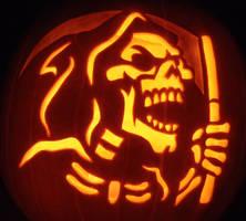Grim Reaper Pumpkin by johwee