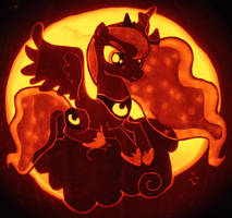 Nightmare Night - Princess Luna Pumpkin by johwee