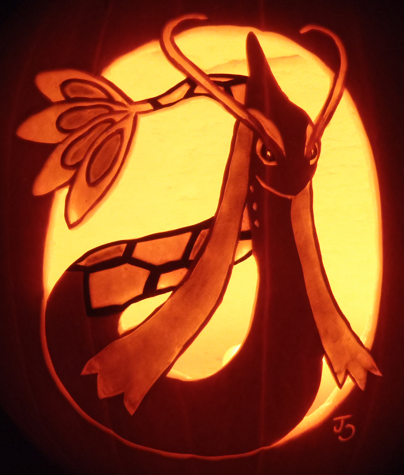Princess of the Sea - Milotic Pumpkin by johwee