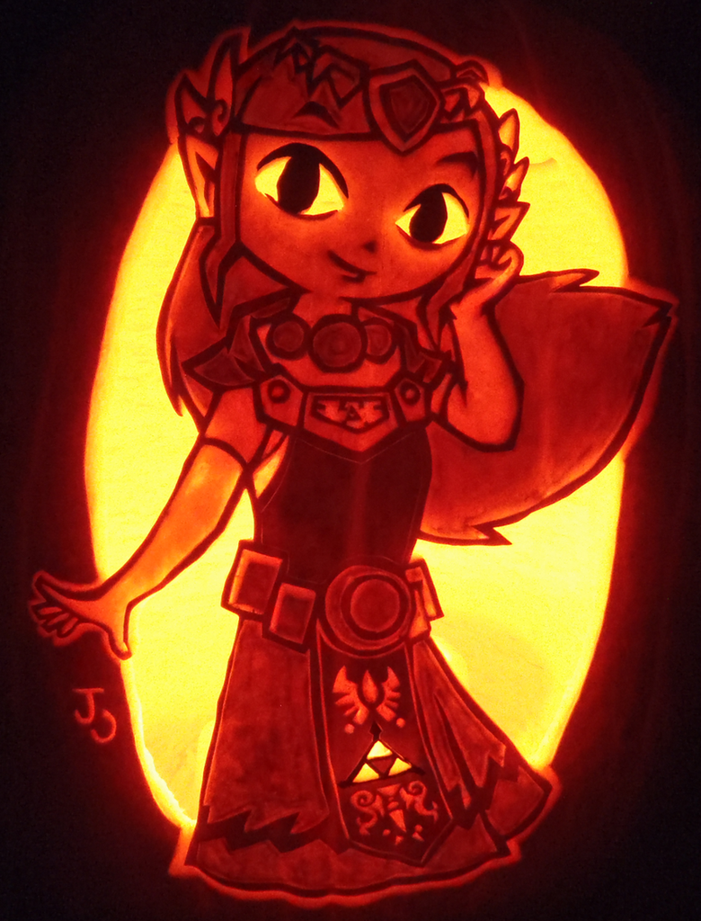 Pumpkin of Wisdom - Princess Zelda by johwee
