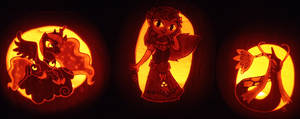 Three Princess Pumpkins