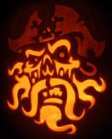 Ghost Pirate Pumpkin by johwee