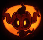 Phantump on a Pumpkin by johwee
