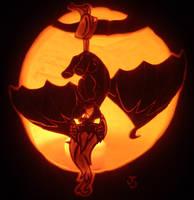Flutterbat Pumpkin by johwee