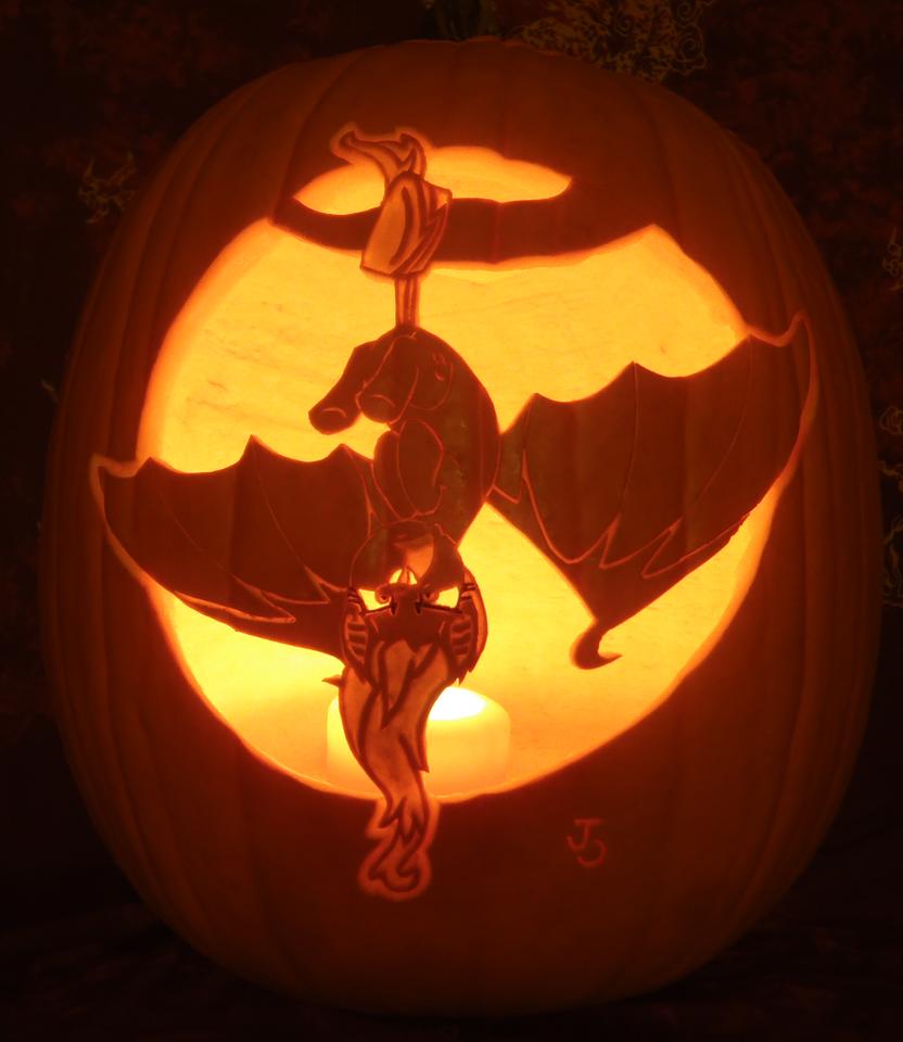 Flutterbat Pumpkin Light Version by johwee