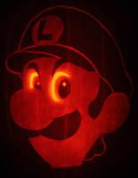 Luigi's Pumpkin Stare by johwee