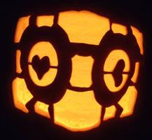 Companion Cube Pumpkin by johwee
