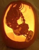 GLaDOS Pumpkin Light Version by johwee