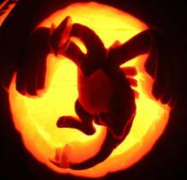 Lugia on a Pumpkin by johwee