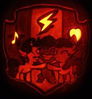 Cutie Mark Crusaders Pumpkin (5-18 Spoiler!) by johwee