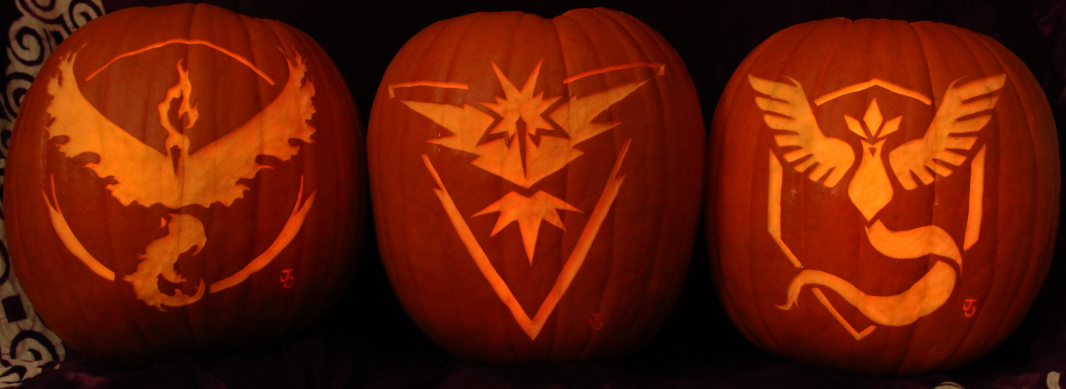 Pokemon go pumpkins light version by johwee on deviantart for Pokemon jack o lantern template