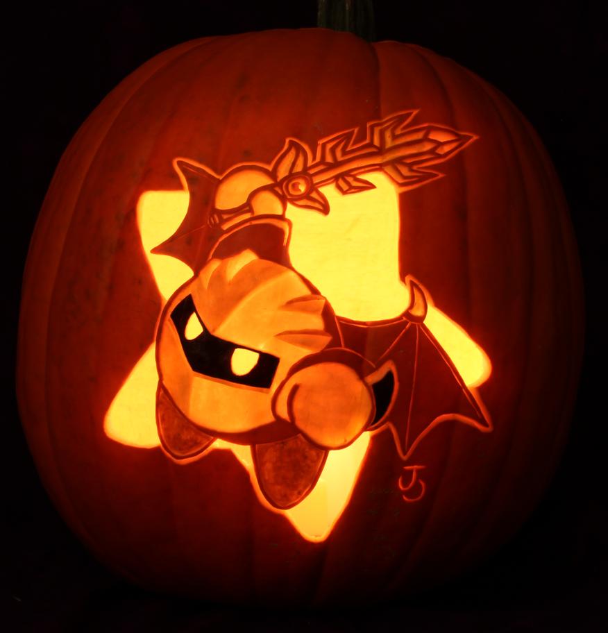 Meta knight pumpkin light by johwee on deviantart