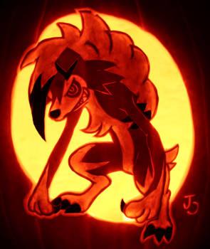 Midnight Lycanroc Pumpkin