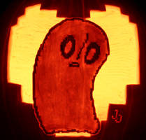 Not Feelin Up To It Right Now- Napstablook Pumpkin
