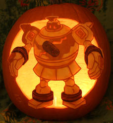 Golurk Pumpkin Light Version