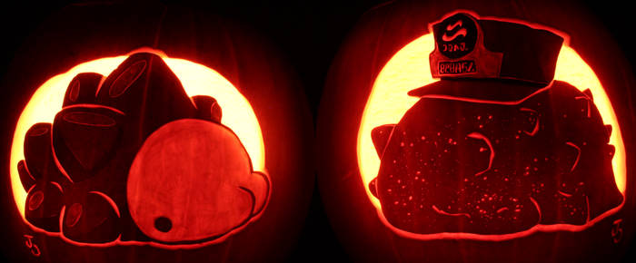 They're Just Vibing - Snom and C.Q.Cumber Pumpkins