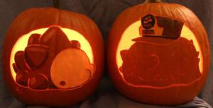 Snom and C.Q.Cumber Pumpkins Light Version