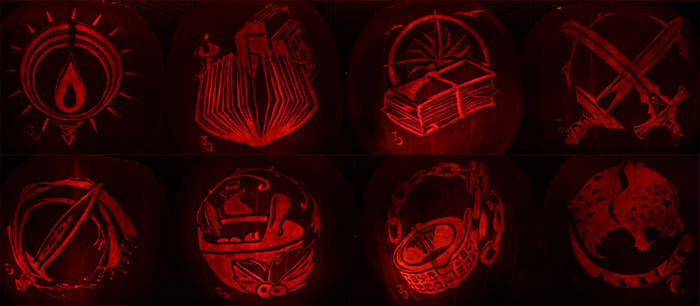 Heroes of Orsterra - Octopath Traveler Pumpkins