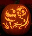 Jack and Sally Pumpkin Light Version