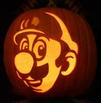 Luigi Pumpkin Light Version