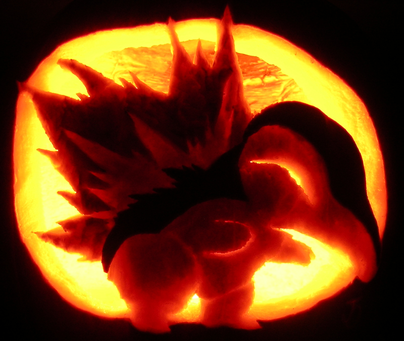 Cyndaquil Pumpkin by johwee