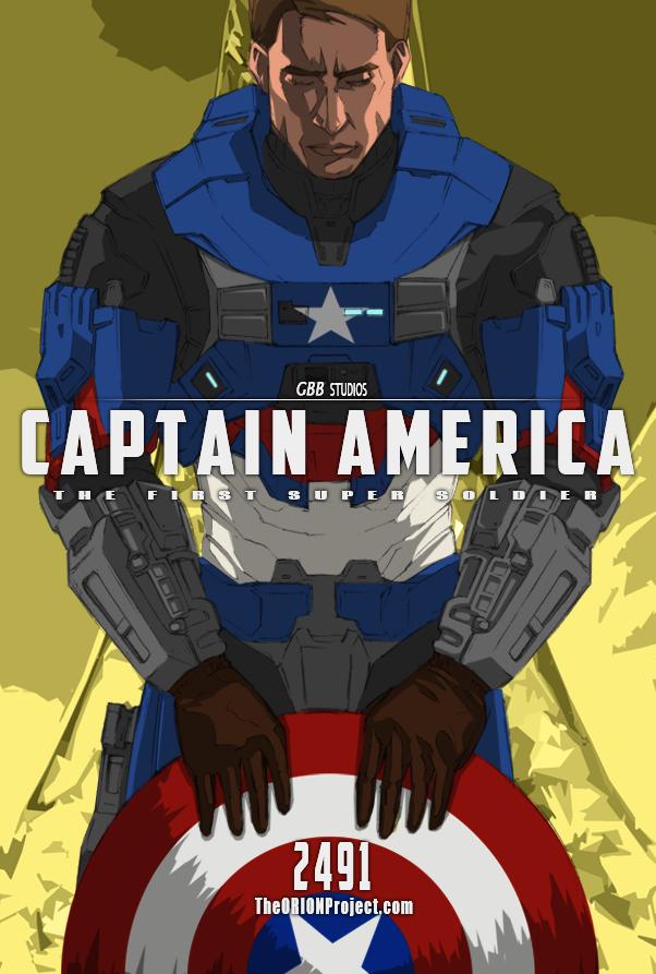 Captain America + MJOLNIR Mk.V by GRANDBigBird