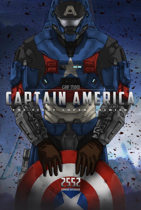 Captain America + MJOLNIR Mk.V ver.2 by GRANDBigBird