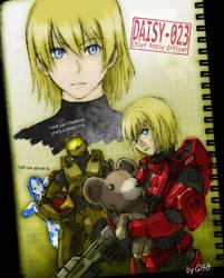 Daisy and her Teddy Bear